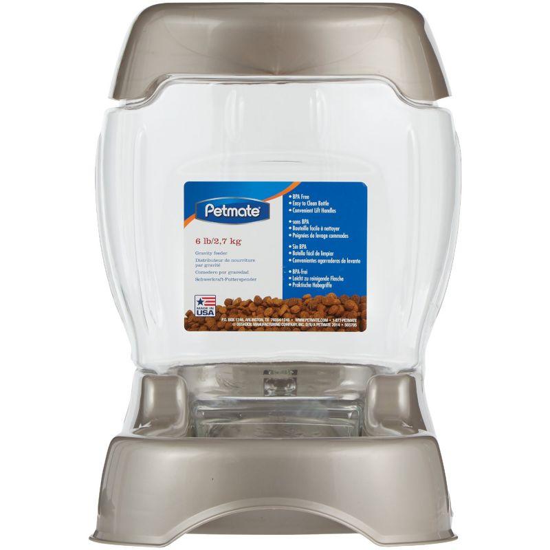 Petmate Pet Caf Plastic Automatic Pet Feeder Pearl Tan