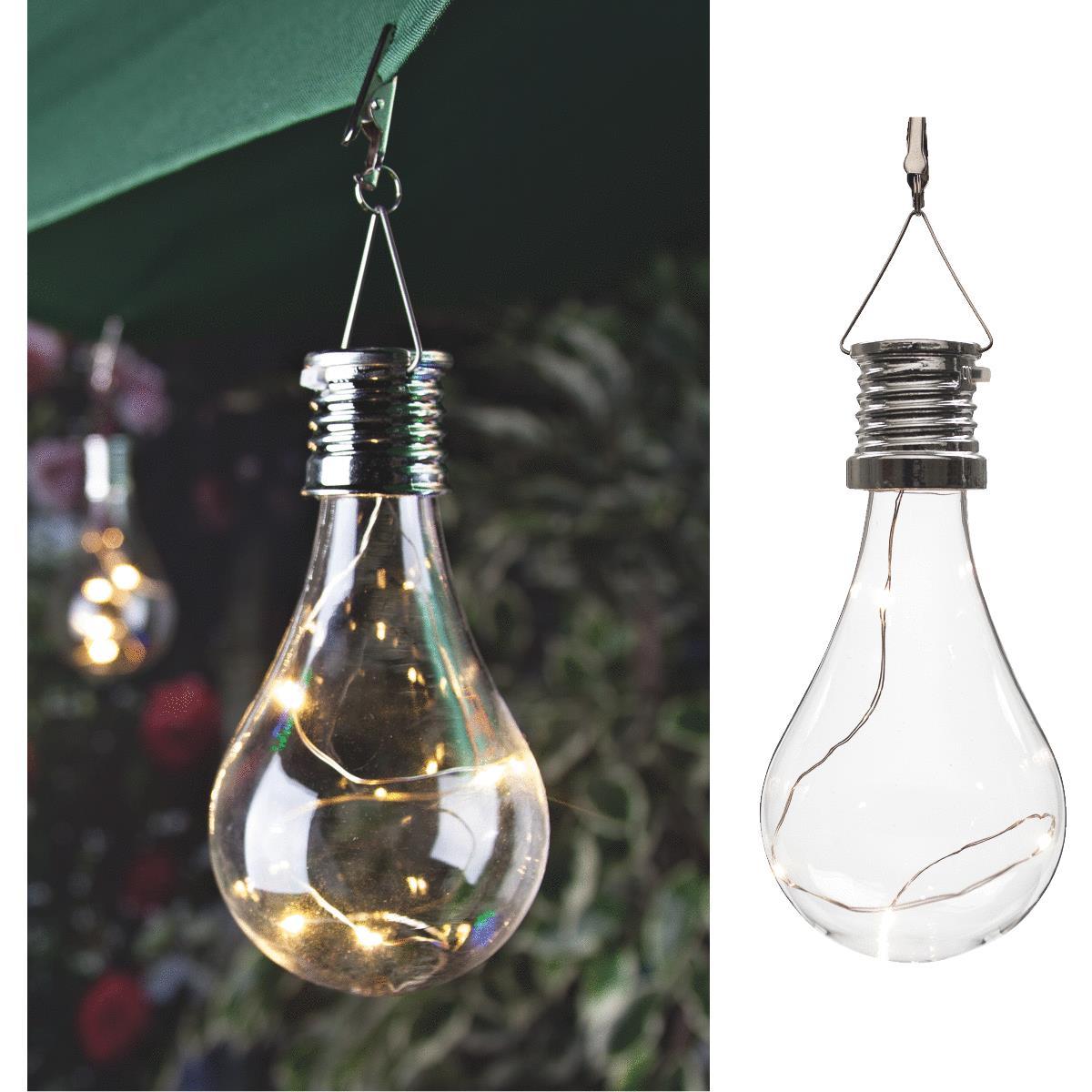 Buy Gerson Everlasting Glow Edison Bulb Solar Light Clear