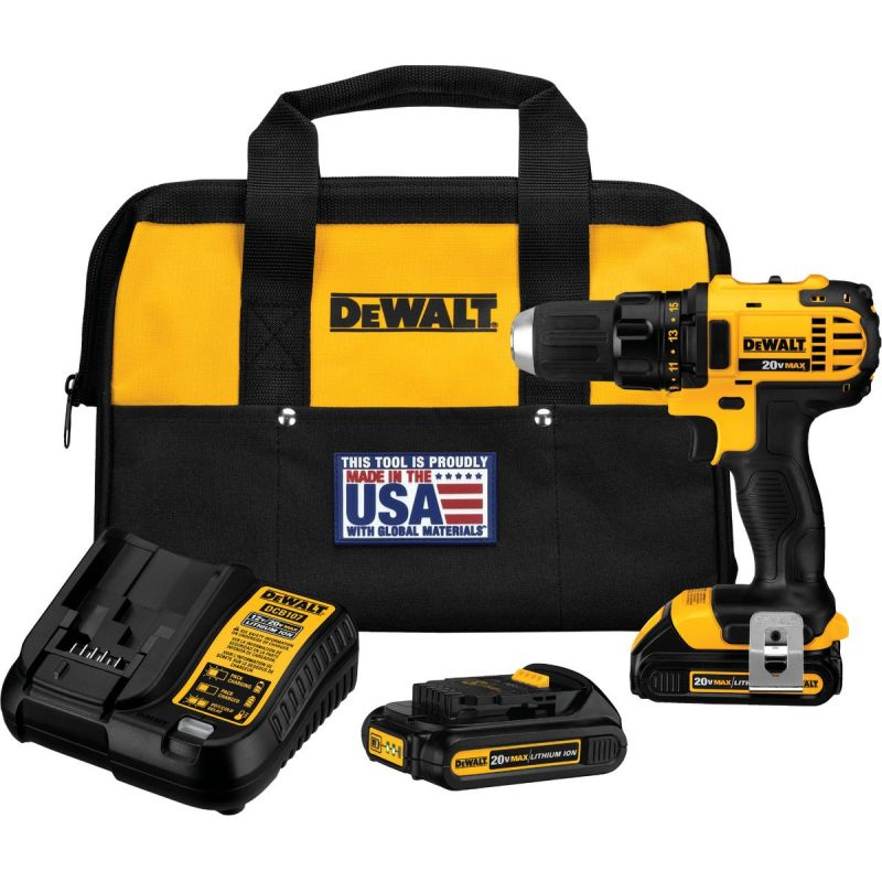 DeWalt 20V MAX Lithium-Ion Compact Cordless Drill Kit