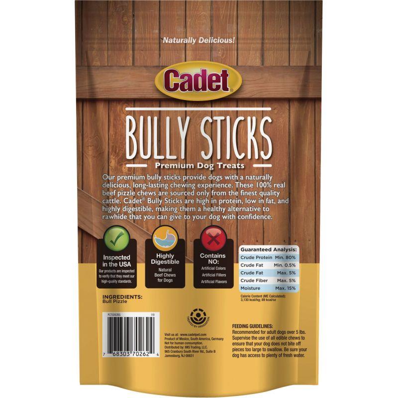 Cadet Bully Sticks Dog Treat 6 Oz.