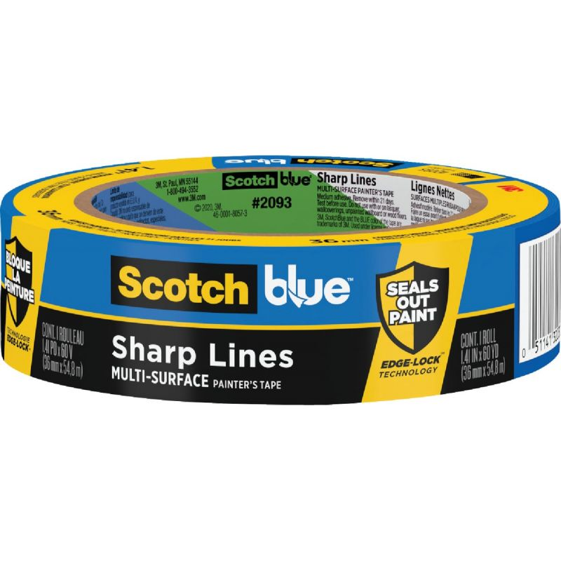 3M Scotch Blue Sharp Lines Painter's Tape Blue