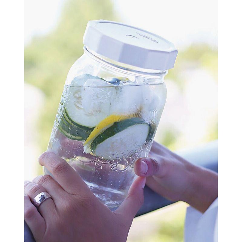 Masontops Tough Top Canning Jar Lid White