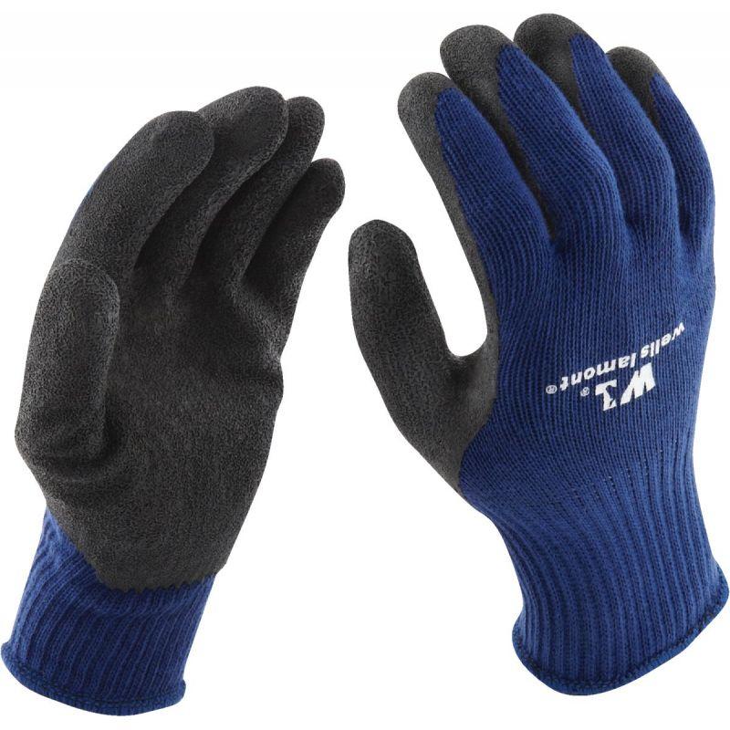 Wells Lamont Latex Coated Glove M, Blue & Black