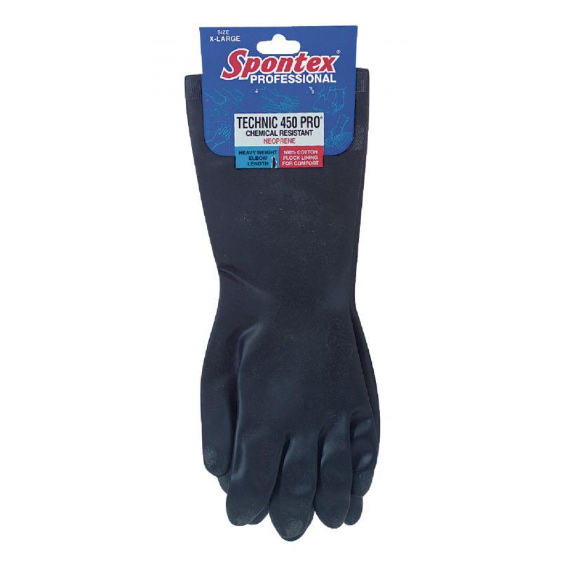 Spontex Technic 450 Pro Neoprene Rubber Glove M, Black