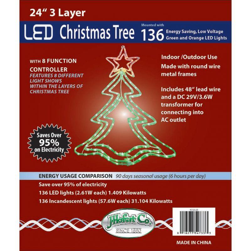 J Hofert LED Lighted Christmas Tree 24 In.