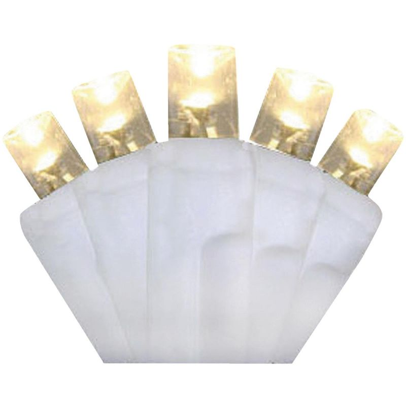 J Hofert Warm White 100-Bulb M5 LED Light Set With White Wire