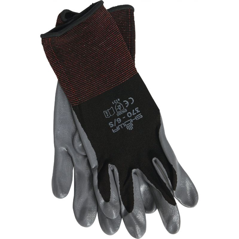 Showa Atlas Nitrile Coated Glove S, Gray & Black