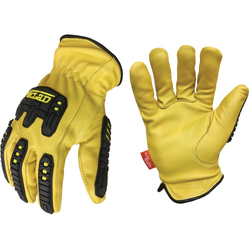 Ironclad Ultimate 360 Impact Leather Work Glove XL, Yellow