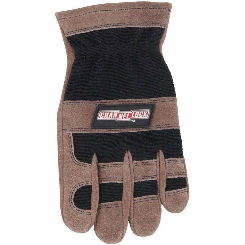 Channellock Leather Work Glove XL, Brown & Black