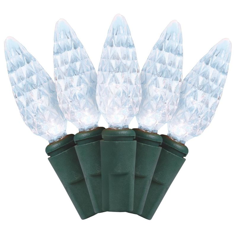 J Hofert Pure White 210-Bulb C6 LED Light Set