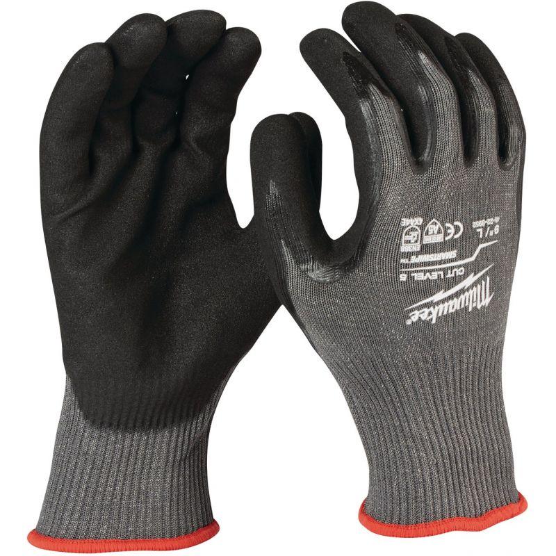Milwaukee Nitrile Coated Cut Level 5 Work Glove L, Gray