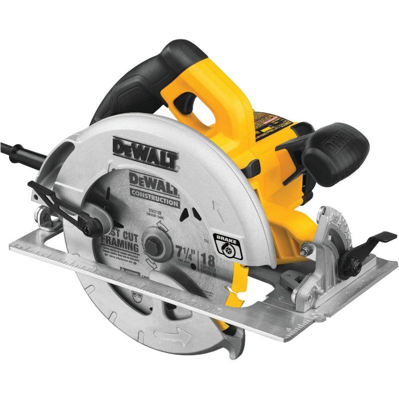DeWalt 7-1/4 In. Circular Saw with Electric Brake 15A