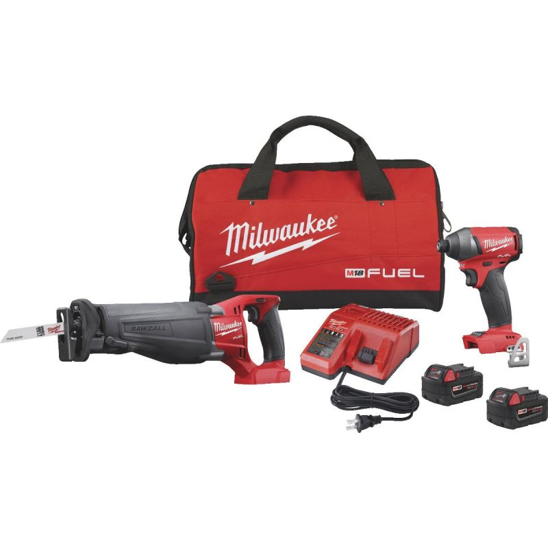 Milwaukee M18 FUEL Li-Ion Brushless Reciprocating Saw/Impact Cordless Tool Combo Kit
