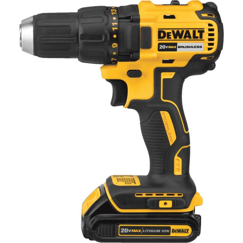 DeWalt 20V MAX Lithium-Ion Brushless Compact Cordless Drill Kit