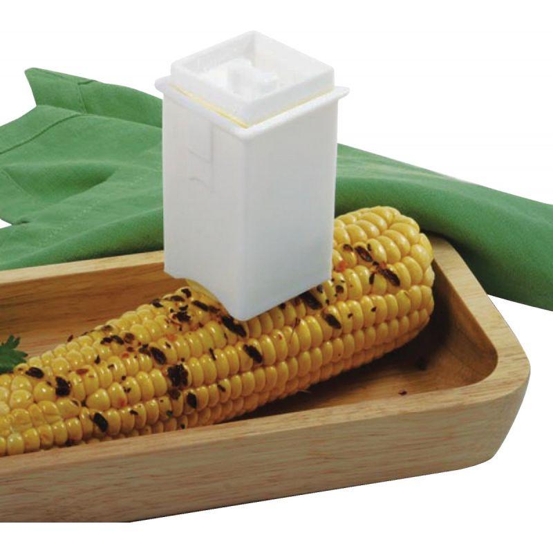 """Norpro Corn Butter Spreader 3"""" X 1-3/4"""" X 1-3/4"""", White"""