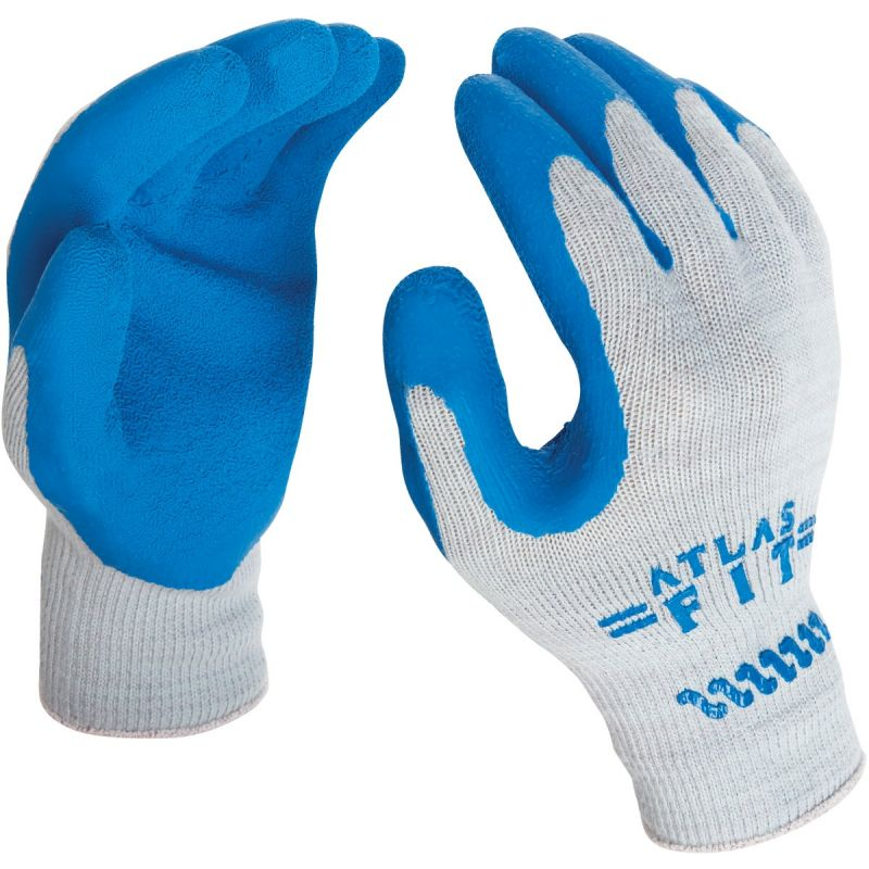 Showa Atlas Rubber Coated Glove M, Gray & Blue