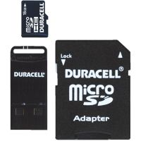 Duracell Micro SD Memory Card With SD And USB Adapter