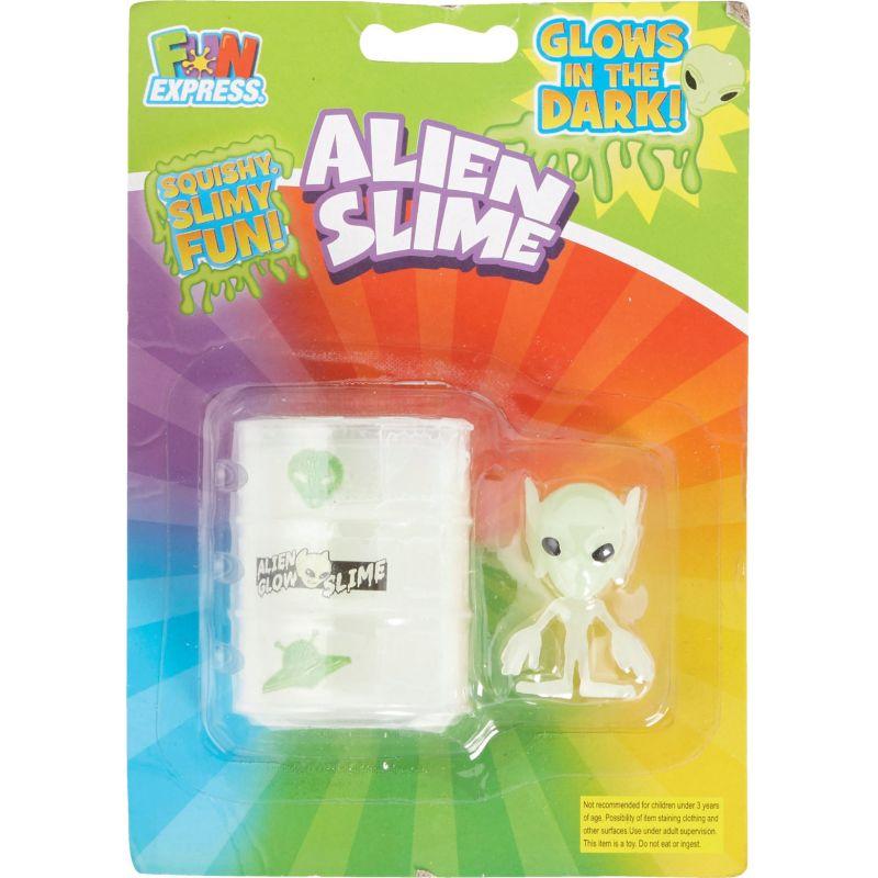 Fun Express Space Alien Slime 1-3/4 In. X 2-3/8 In., Cream (Pack of 6)