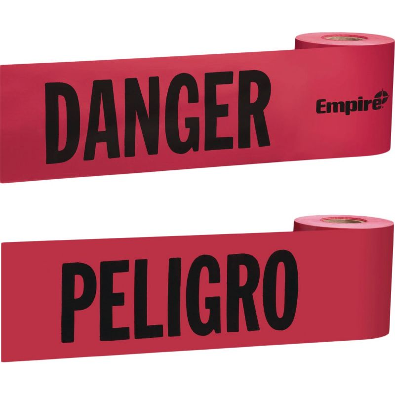 Empire Danger Caution Tape Red With Black Print