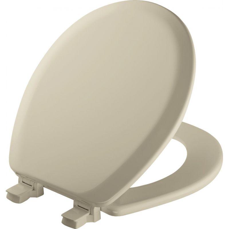 Mayfair Advantage Round Toilet Seat Bone, Round