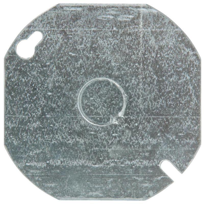"Steel City 4"" Round Box Cover Gray"
