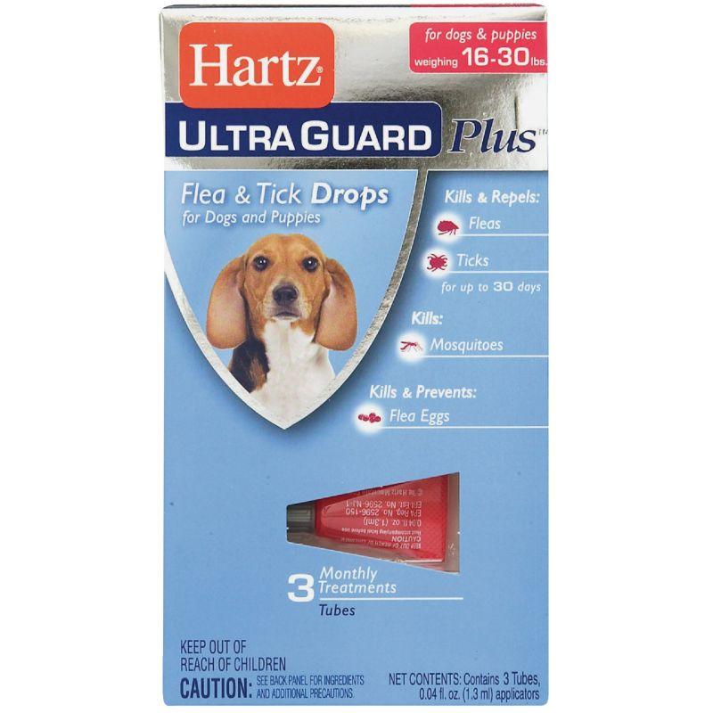 Hartz UltraGuard Plus Flea & Tick Treatment Drops For Dogs (3) 0.04 Oz.Tubes