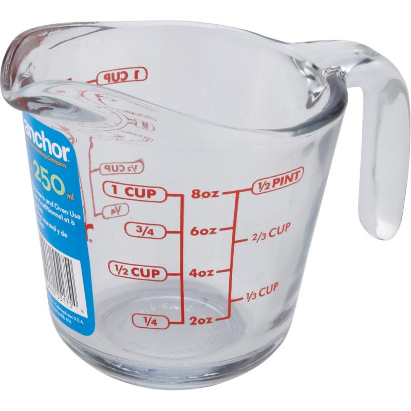 Anchor Hocking Measuring Cup 8 Oz., Clear (Pack of 4)