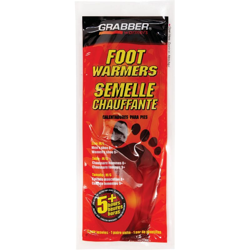 Grabber Foot Warmer Medium/Large, Insoles (Pack of 12)