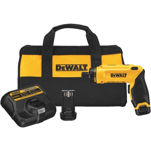 DeWalt 8V MAX Gyroscopic Lithium-Ion Cordless Screwdriver 2 Battery Kit