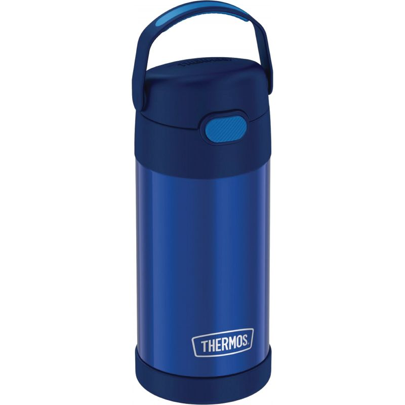 Thermos Funtainer Insulated Vacuum Water Bottle 12 Oz., Navy