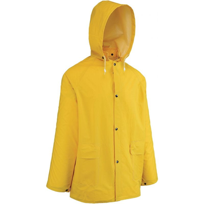 West Chester 2-Piece Raincoat With Hood 2XL, Yellow, Raincoat