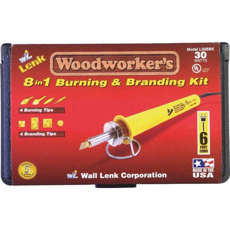 Wall Lenk Woodworker's 8-in-1 Branding & Wood Burning Kit