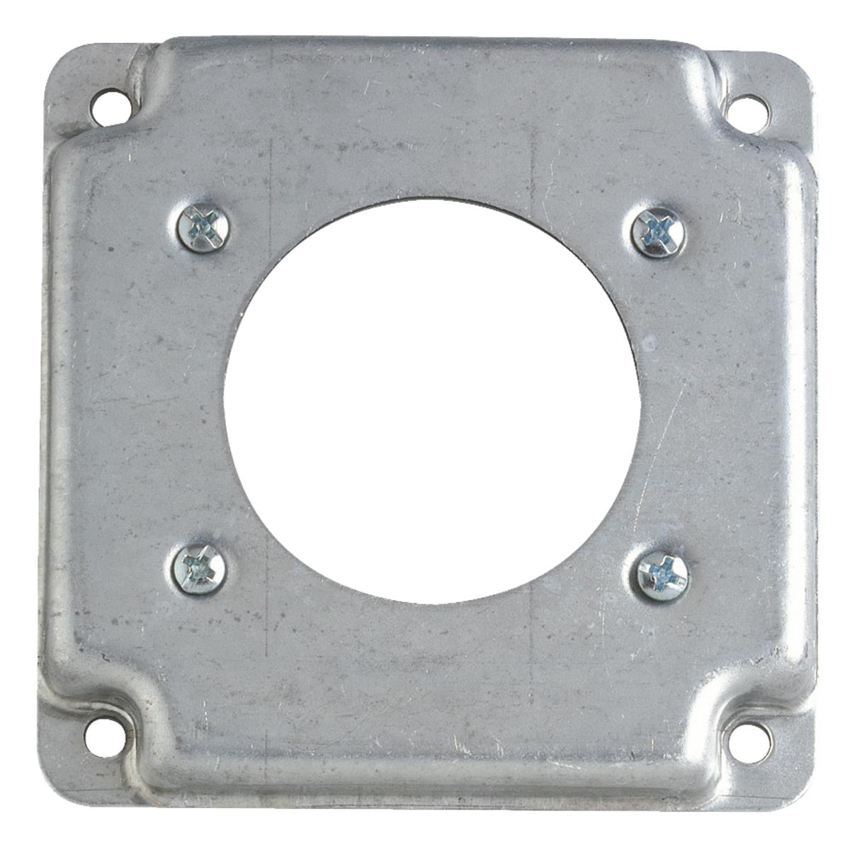 """4-11//16/"""" Square Finished Electrical Box Cover 1//2/"""" Raised 1 Toggle Switch 5/"""""""