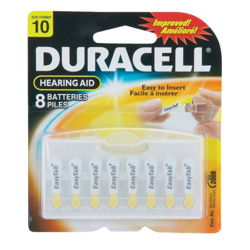 Duracell EasyTab Hearing Aid Battery Yellow