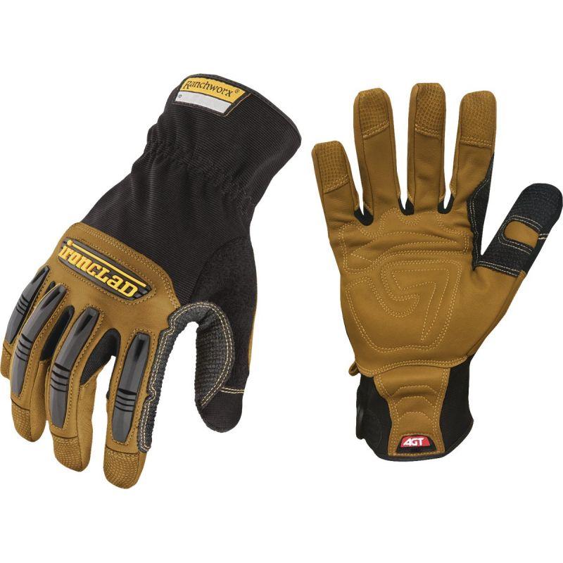 Ironclad Ranchworx High Performance Leather Work Glove L, Black & Tan