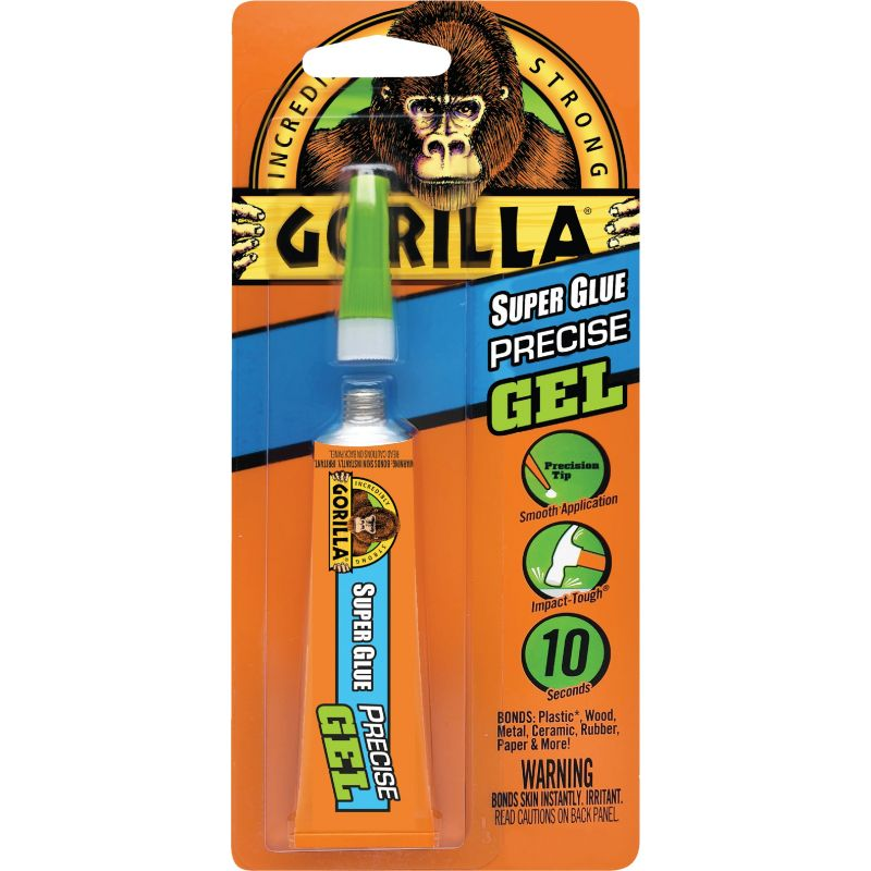 Gorilla Super Glue Precise Gel 0.53 Oz.
