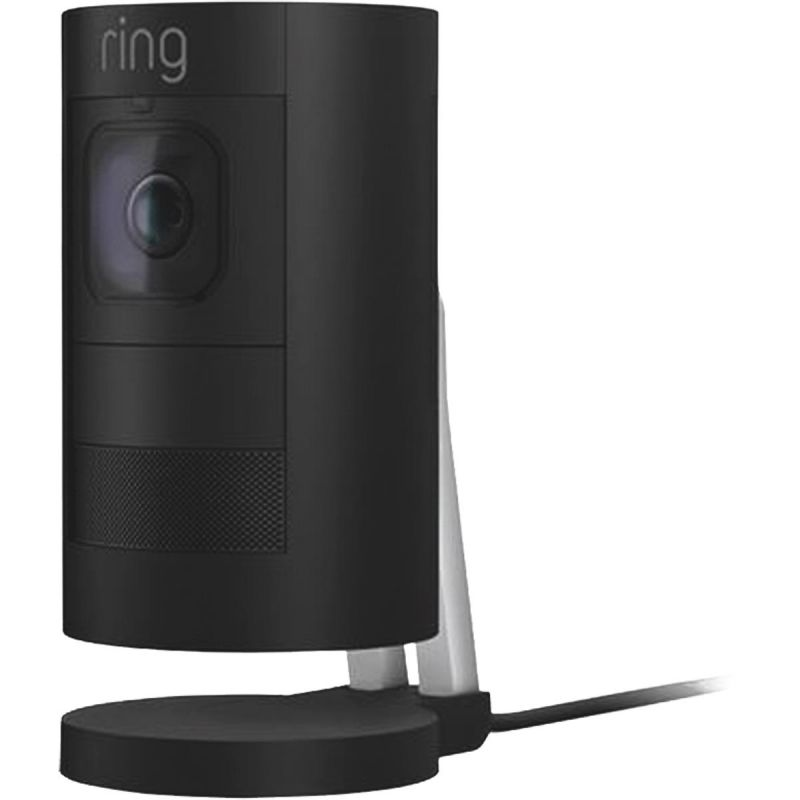 Ring Stick Up Cam Wired Security Camera Black