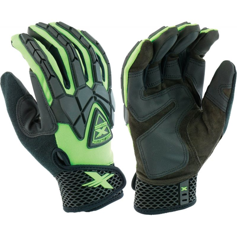 West Chester Protective Gear Extreme Work Strike ProteX Work Glove L, Green & Black