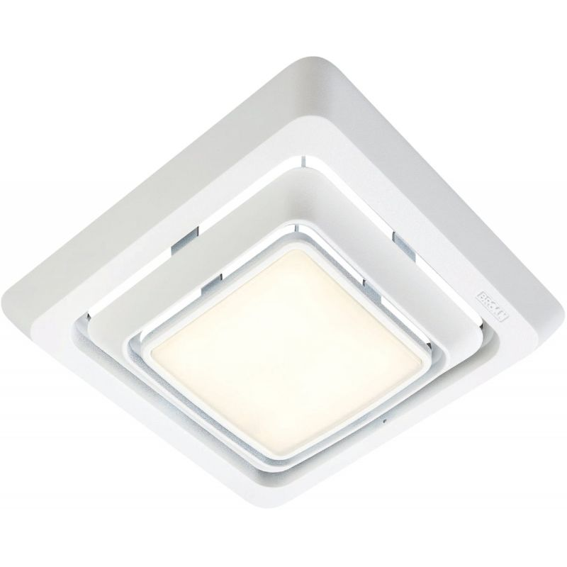 Broan LED Exhaust Fan Replacement Grille Upgrade 9-3/4 In. W. X 11 In. L., White