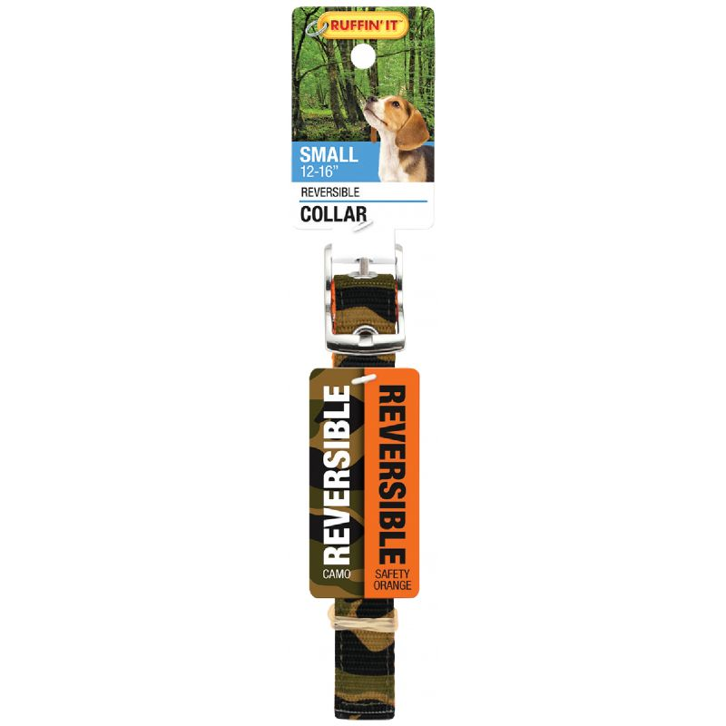 Westminster Pet Ruffin' it Reversible Dog Collar Camouflage, Safety Orange