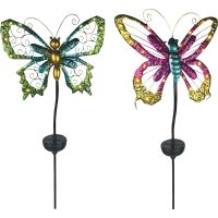 Moonrays Solar Butterfly Stake Light Lawn Ornament (Pack of 16)