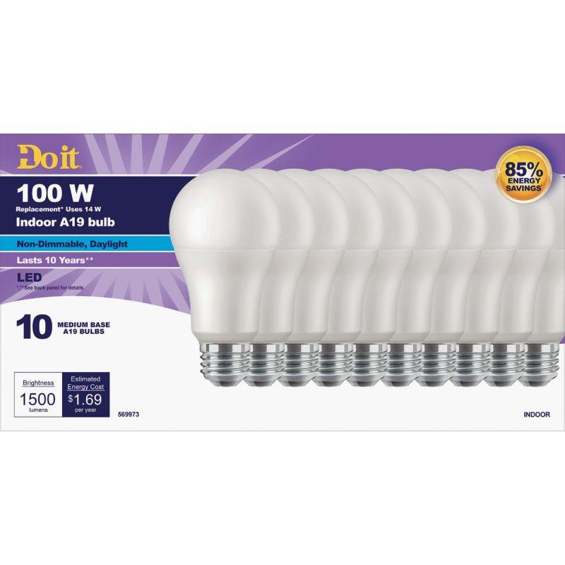 Do it A19 Medium LED Light Bulb
