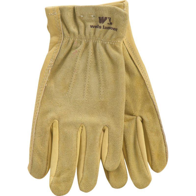 Wells Lamont Women's Grain Cowhide Leather Work Glove S, Tan