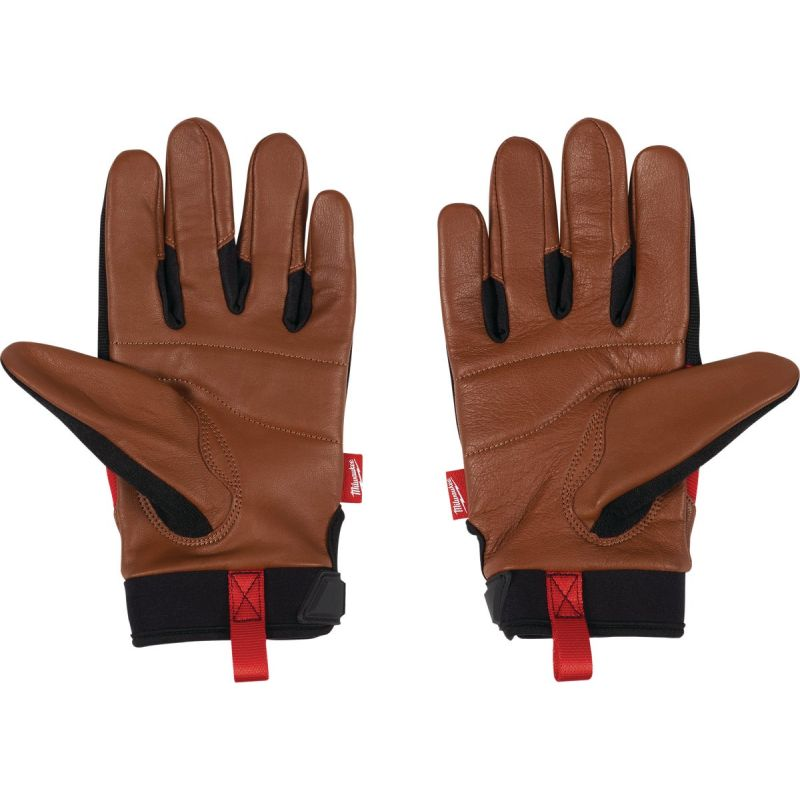Milwaukee Leather Performance Work Gloves XL, Red/Black/Brown