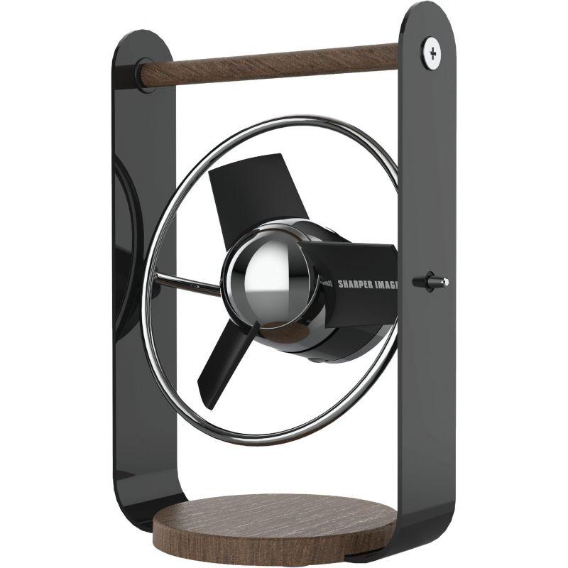 Vornado Sharper Image USB Desk Fan Small, Black/Chrome