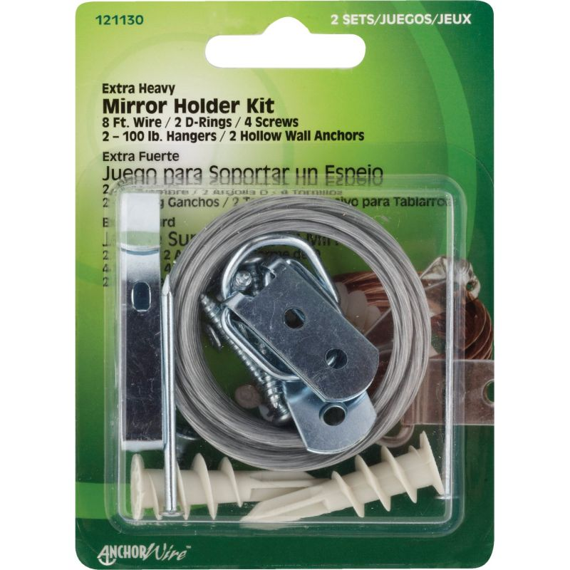Hillman Anchor Wire Heavy-Duty Mirror And Picture Hanger Kit 100 Lb (Pack of 5)