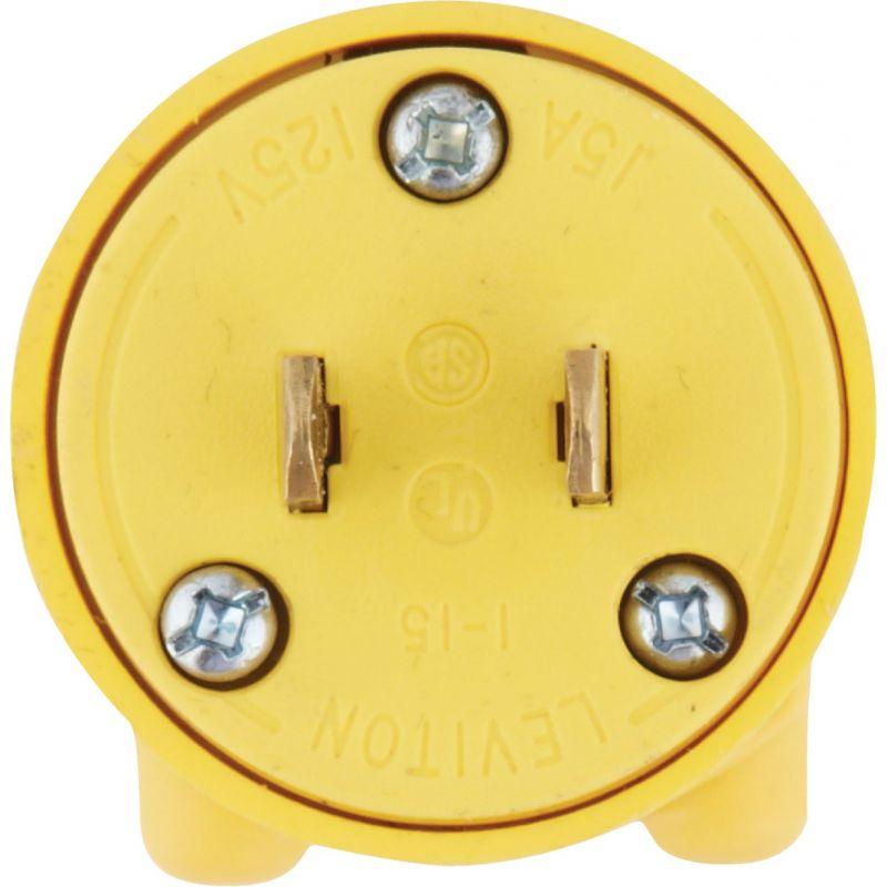 Leviton Residential Grade Cord Plug Yellow, 15A