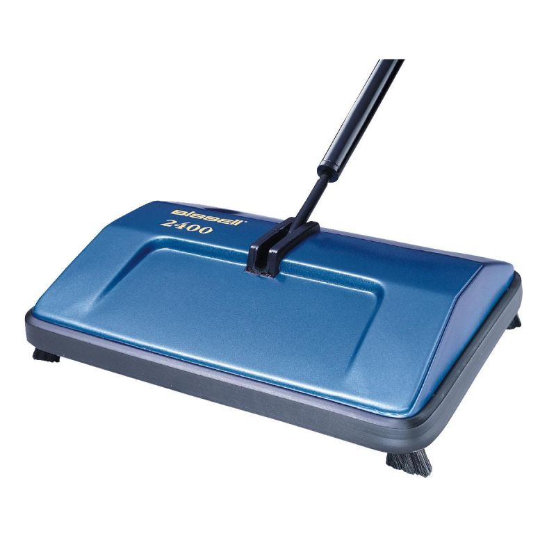 Bissell Sturdy Sweep Manual Carpet & Floor Sweeper Blue
