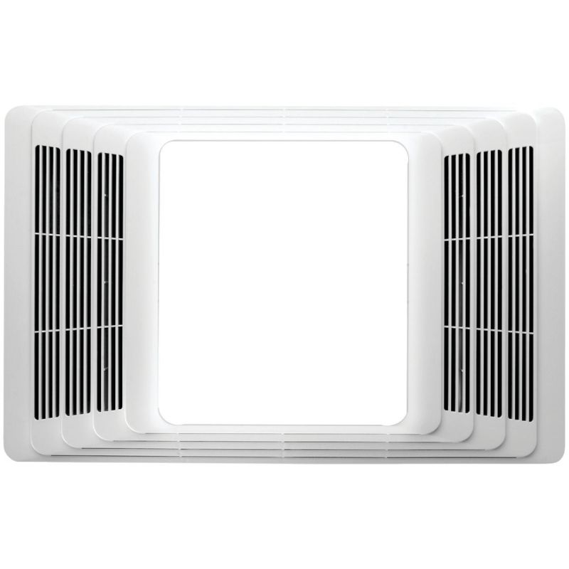 Broan 80 CFM Bath Exhaust Fan with Heater & Light White
