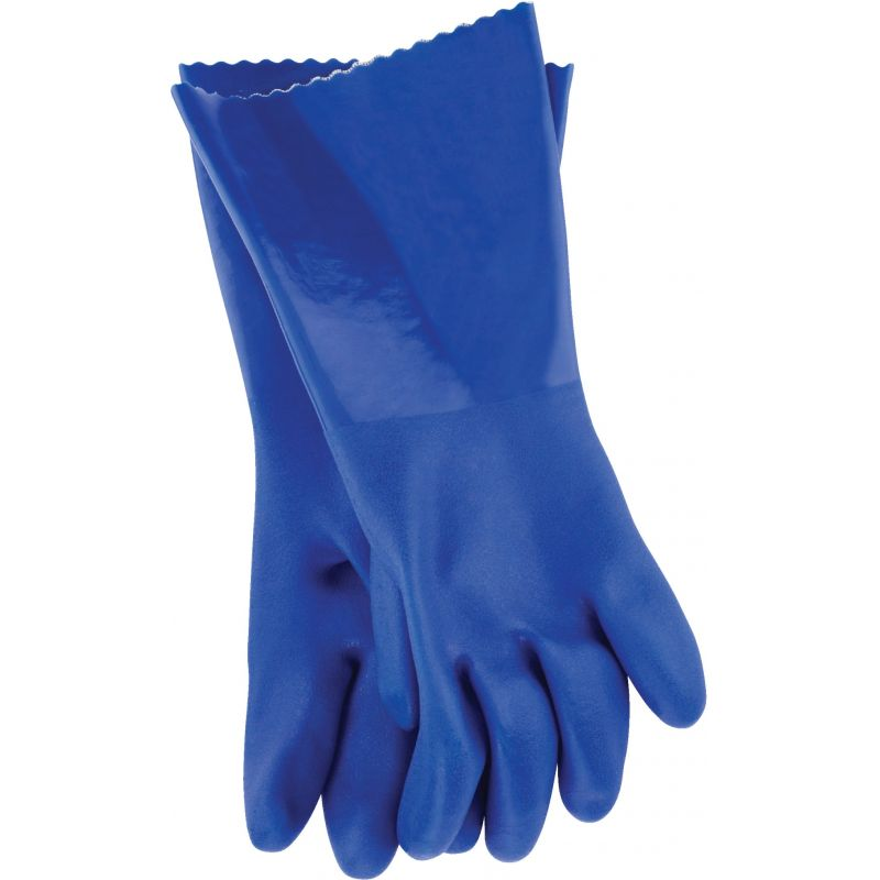 Working Hands PVC Coated Rubber Glove M, Blue